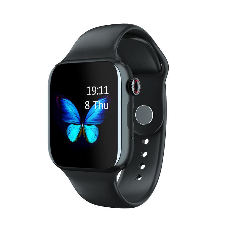 Smartwatch Universal 5 for iPhone and Android with Heart Rate Monitor Sensor Bluetooth Calls Texts etc Black and Black