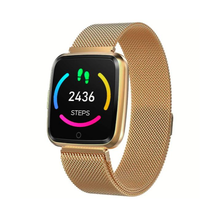 Load image into Gallery viewer, Smart Tersa Fitness Tracker Heart Rate Monitor Gold Stainless