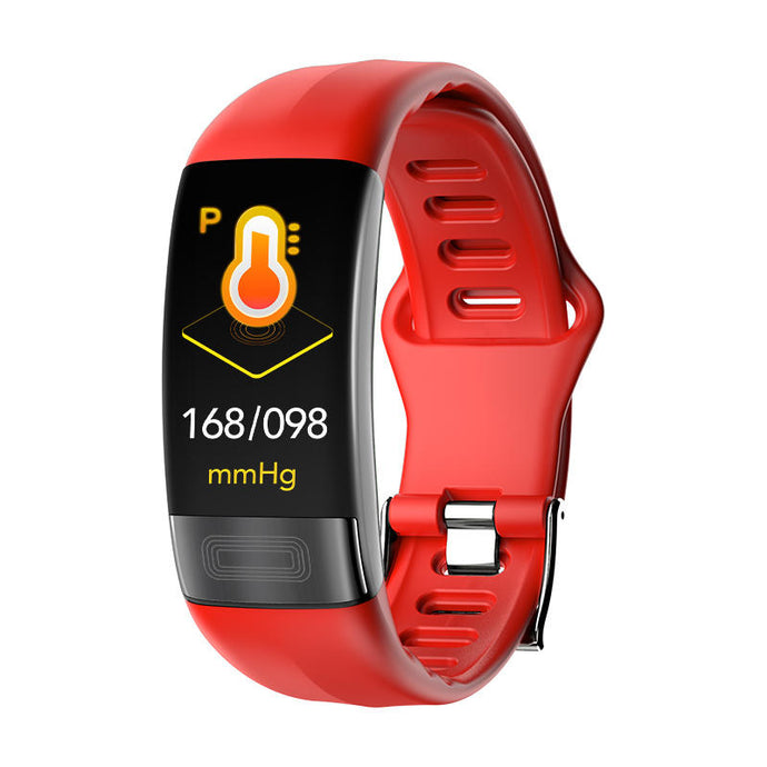 LS1 ECG Electrocardiography Smart Fitness Bracelet Red