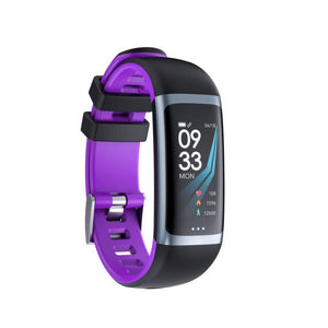 PK2 Smart Fitness Tracker Heart Rate Monitor Purple