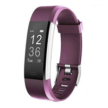 Load image into Gallery viewer, Kfit Band Fitness Tracker Bracelet with Heart Rate Monitor Purple