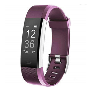 Kfit Band Fitness Tracker Bracelet with Heart Rate Monitor Purple
