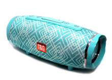 Load image into Gallery viewer, T&G 145 Bluetooth Wireless Speaker Teal with Design