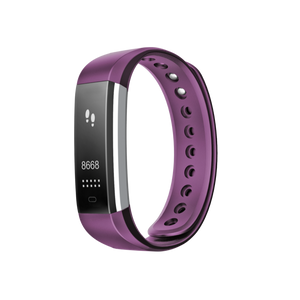 Fusion Fitband Heart Rate Monitor Smart Bracelet Purple