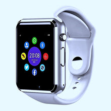Load image into Gallery viewer, The Smartwatch A1+PRO was just released July 2020. Equipped with a stronger processor and a better Camera, the Sound Quality is amazing. You can pair by Bluetooth or insert your own SIM card (unlocked worldwide)  Colour: White