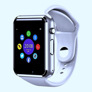 The Smartwatch A1+PRO was just released July 2020. Equipped with a stronger processor and a better Camera, the Sound Quality is amazing. You can pair by Bluetooth or insert your own SIM card (unlocked worldwide)  Colour: White
