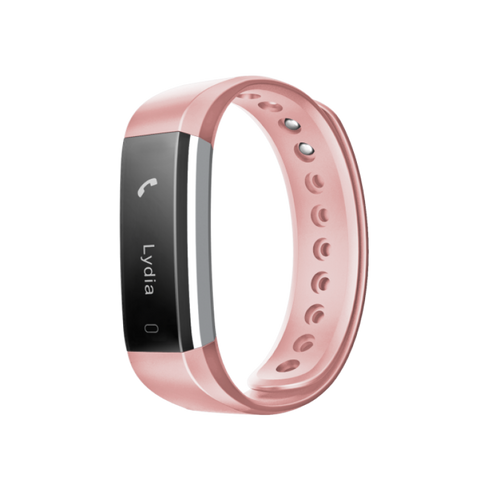 Fusion Fitband Heart Rate Monitor Smart Bracelet Peach Pink