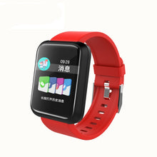 Load image into Gallery viewer, SPORT Fitness Tracker Watch T3 Heart Rate Monitor Red