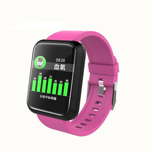 SPORT Fitness Tracker Watch T3 Heart Rate Monitor Violet