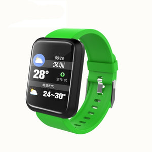 SPORT Fitness Tracker Watch T3 Heart Rate Monitor Green