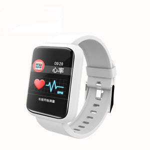 SPORT Fitness Tracker Watch T3 Heart Rate Monitor White