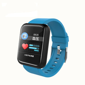 SPORT Fitness Tracker Watch T3 Heart Rate Monitor Blue