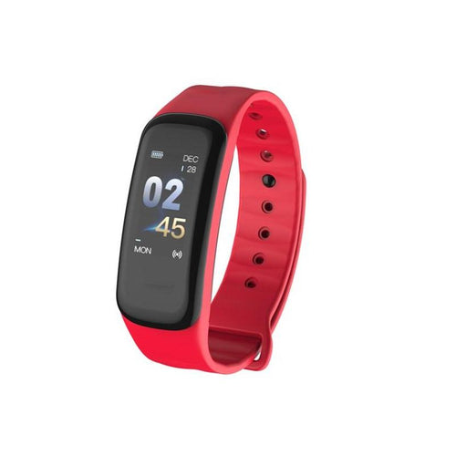 Cfit + Fitness Tracker Heart Rate Monitor Bracelet Red