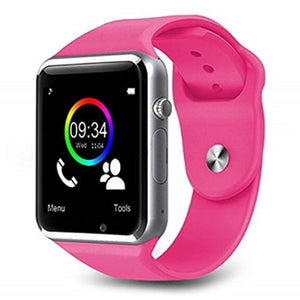 The Smartwatch A1+PRO was just released July 2020. Equipped with a stronger processor and a better Camera, the Sound Quality is amazing. You can pair by Bluetooth or insert your own SIM card (unlocked worldwide)  Colour: Pink