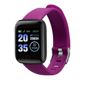 Y7 Plus Fitness Tracker Purple Smart Watch with Heart Rate Monitor Blood Pressure Saturation Fatigue % Sleep Monitor (REM Cycles) Step Tracker Pedometer with Distance Traveled, Calories Counter, Caller ID, SMS, Notifications, etc