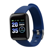 Load image into Gallery viewer, Y7 Plus Fitness Tracker Blue Smart Watch with Heart Rate Monitor Blood Pressure Saturation Fatigue % Sleep Monitor (REM Cycles) Step Tracker Pedometer with Distance Traveled, Calories Counter, Caller ID, SMS, Notifications, etc