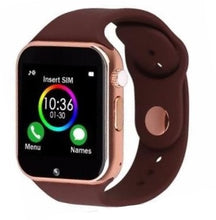 Load image into Gallery viewer, The Smartwatch A1+PRO was just released July 2020. Equipped with a stronger processor and a better Camera, the Sound Quality is amazing. You can pair by Bluetooth or insert your own SIM card (unlocked worldwide)  Colour: Brown