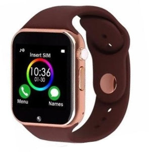 The Smartwatch A1+PRO was just released July 2020. Equipped with a stronger processor and a better Camera, the Sound Quality is amazing. You can pair by Bluetooth or insert your own SIM card (unlocked worldwide)  Colour: Brown