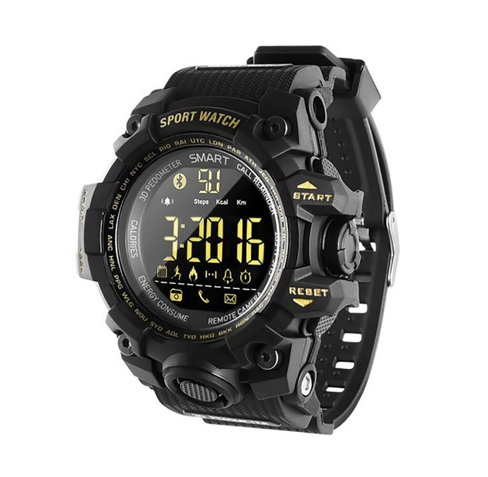 B-Shock Black Smartwatch for Sport Military Grade looking watch with Gravity Sensor