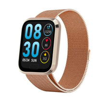 Load image into Gallery viewer, W3 Fitness Tracker Smart Watch with Heart Rate Monitor Activity Tracker in Gold Metal