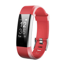Load image into Gallery viewer, Kfit Band Fitness Tracker Bracelet with Heart Rate Monitor Red