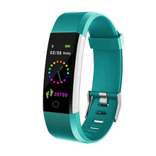 Load image into Gallery viewer, Kfit Band Fitness Tracker Bracelet with Heart Rate Monitor Teal
