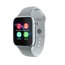 Load image into Gallery viewer, Smartwatch Universal 5 for iPhone and Android with Heart Rate Monitor Sensor Bluetooth Calls Texts etc White and Silver