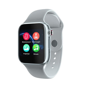 Smartwatch Universal 5 for iPhone and Android with Heart Rate Monitor Sensor Bluetooth Calls Texts etc White and Silver