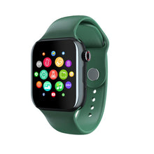 Load image into Gallery viewer, Smartwatch Universal 5 for iPhone and Android with Heart Rate Monitor Sensor Bluetooth Calls Texts etc Black and Green