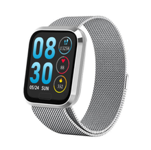 Load image into Gallery viewer, W3 Fitness Tracker Smart Watch with Heart Rate Monitor Activity Tracker in Silver Metal