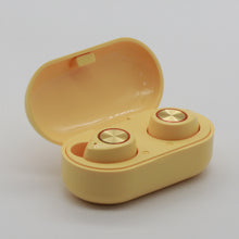Load image into Gallery viewer, TW60 Bluetooth Wireless Earbuds Noise Cancelling Headset Yellow