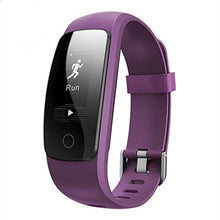 Load image into Gallery viewer, veryfit 2.0 id107 hr+ smart band bracelet fitness tracker GPS Heart rate Monitor Pressure Step Tracker Run Hiking Call & SMS Notification purple
