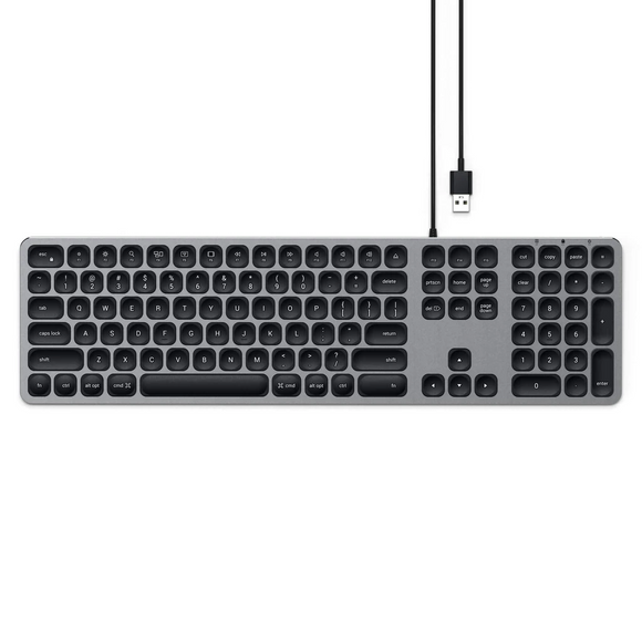 Aluminum Wired Keyboard for Mac - Space Gray