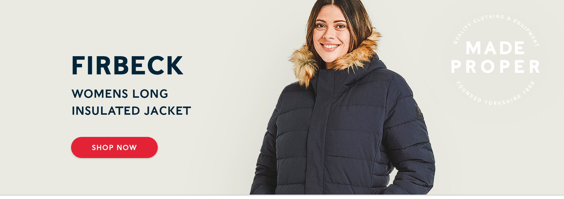 Firbeck Womens Long Insulated Jacket | Shop now