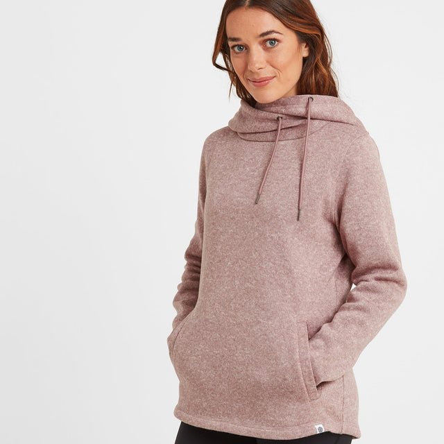 Acer Womens Knitlook Fleece Hoody - Faded Pink image 1