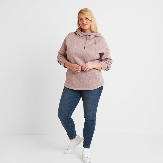 Acer Womens Knitlook Fleece Hoody - Faded Pink image 9