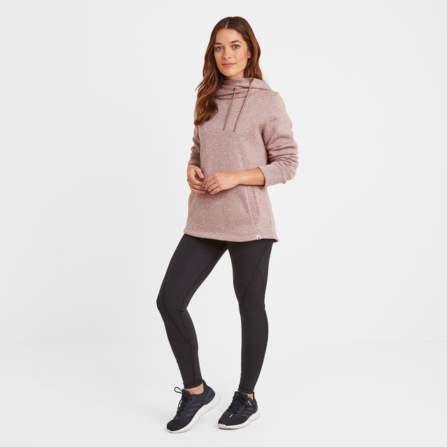 Acer Womens Knitlook Fleece Hoody - Faded Pink image 2
