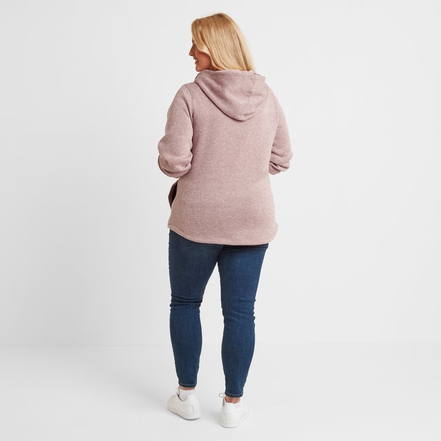 Acer Womens Knitlook Fleece Hoody - Faded Pink image 7