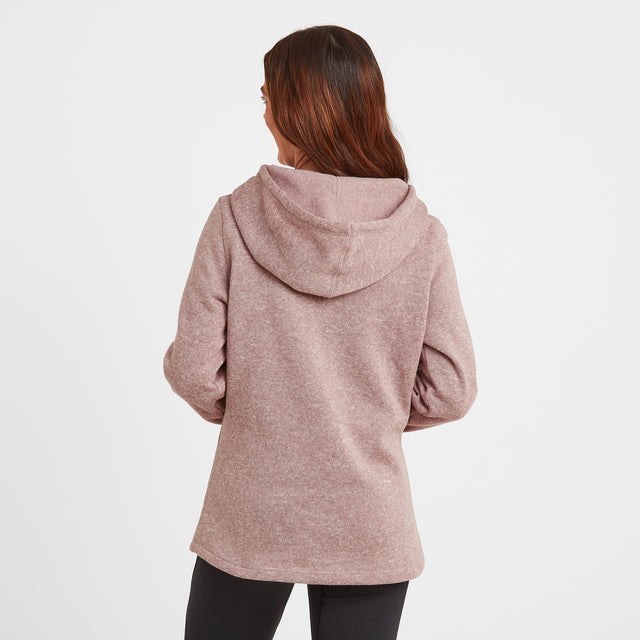 Acer Womens Knitlook Fleece Hoody - Faded Pink image 3