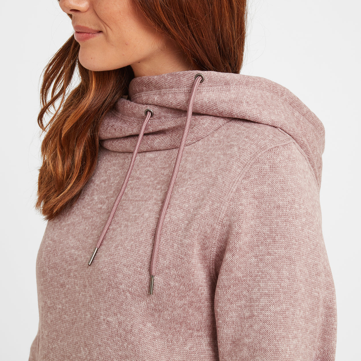 Acer Womens Knitlook Fleece Hoody - Faded Pink image 4