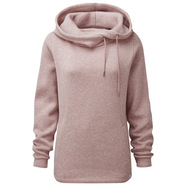 Acer Womens Knitlook Fleece Hoody - Faded Pink image 5