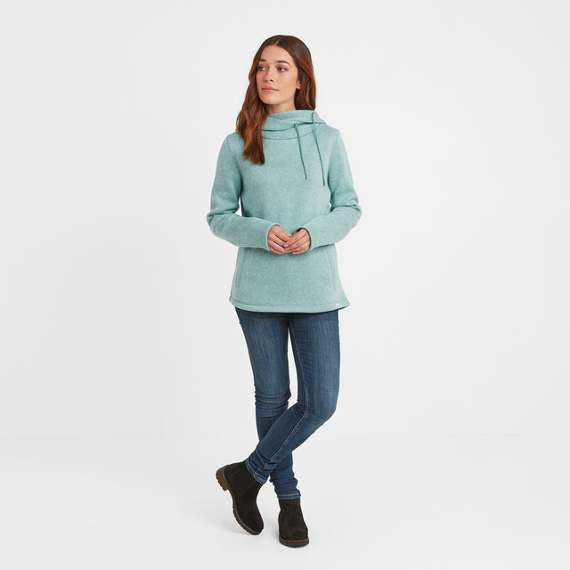 Acer Womens Knitlook Fleece Hoody - Nile Blue image 2