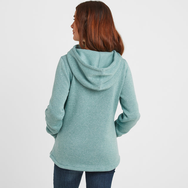 Acer Womens Knitlook Fleece Hoody - Nile Blue image 3