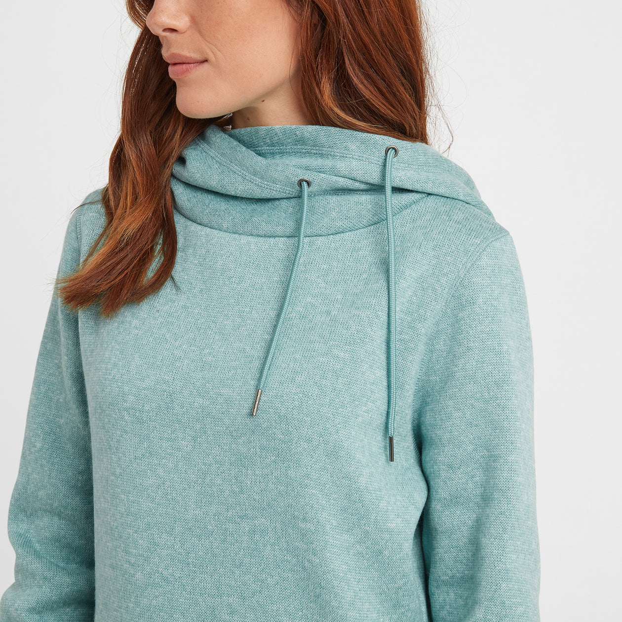Acer Womens Knitlook Fleece Hoody - Nile Blue image 4