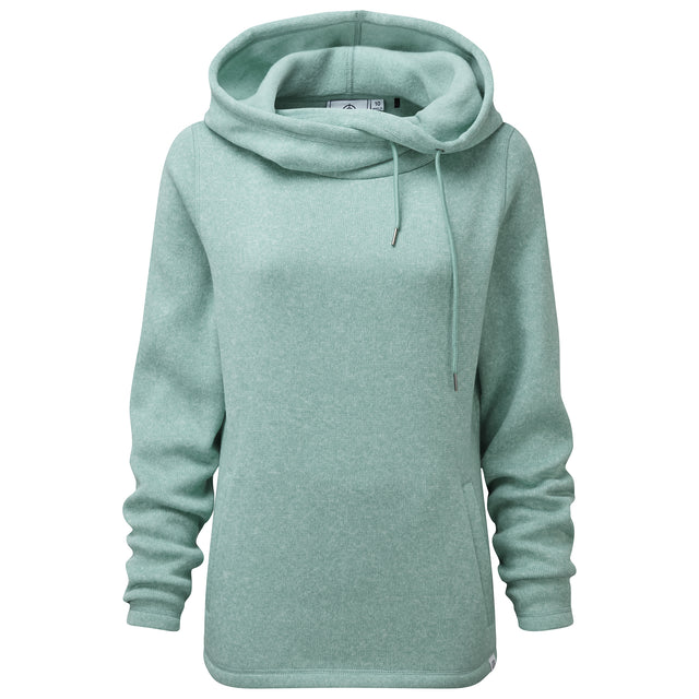 Acer Womens Knitlook Fleece Hoody - Nile Blue image 5