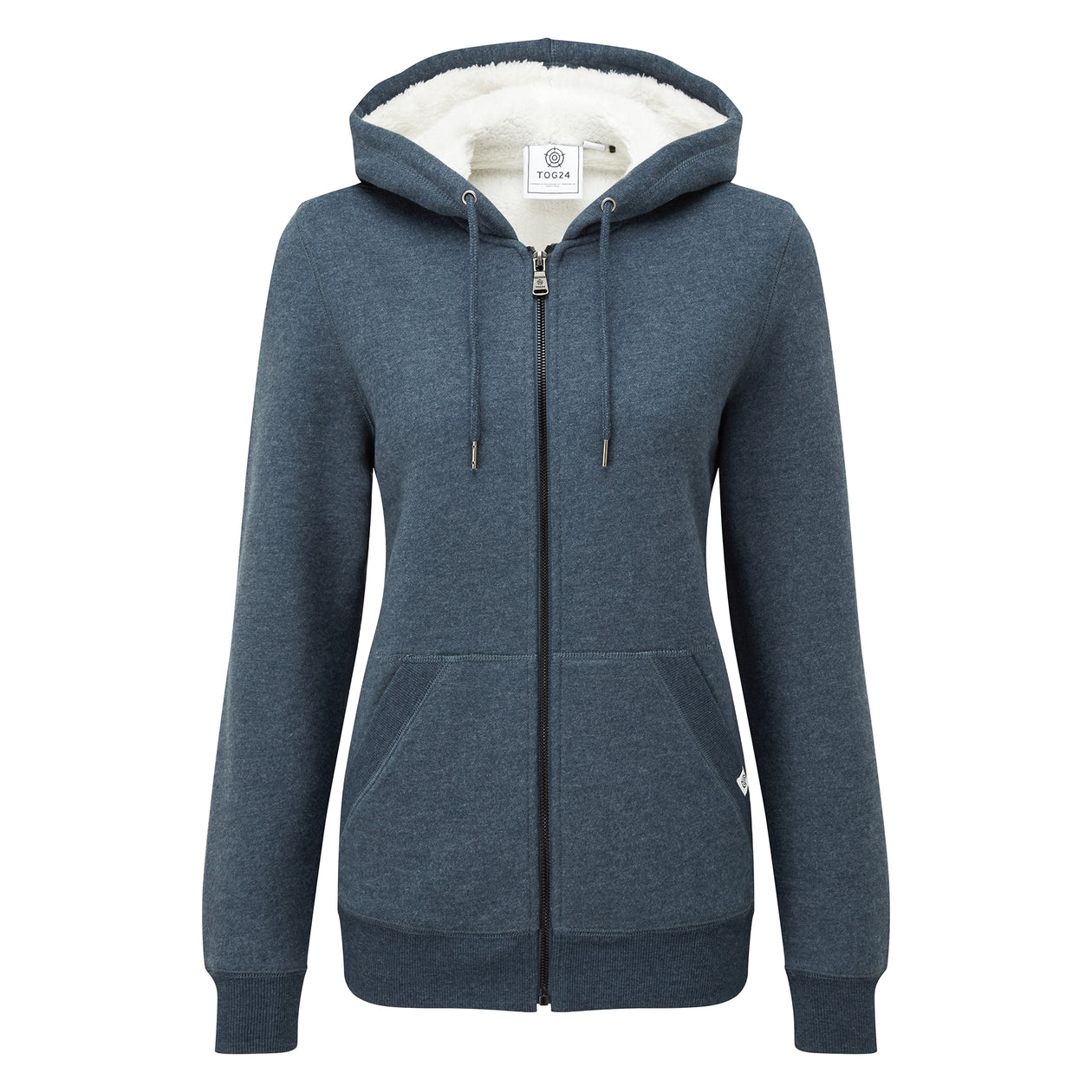 Ada Womens Zip Sherpa Hoody - Atlantic Blue Marl image 4