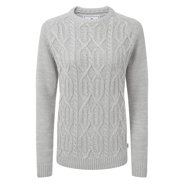 Adele Womens Cable Knit Jumper - Ice Grey image 3