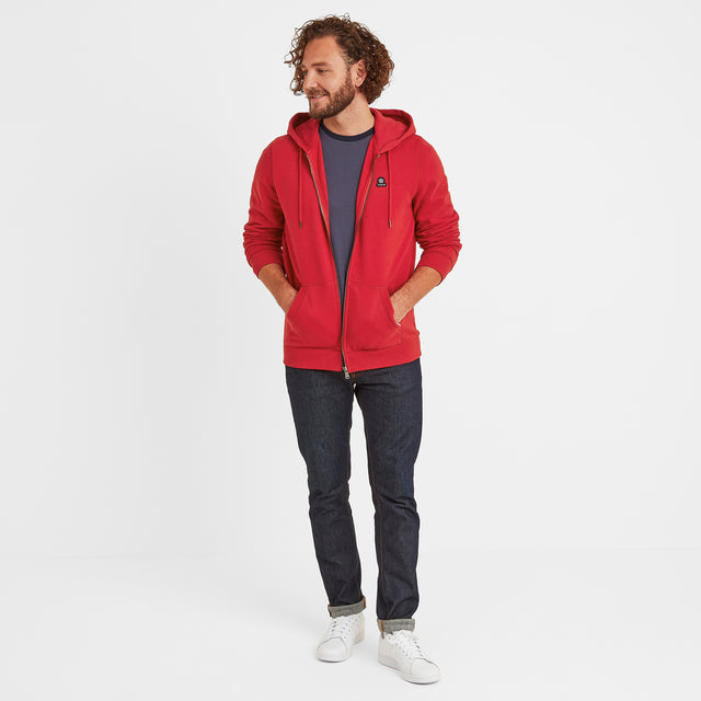 Alden Mens Hoody - Chilli Red image 5