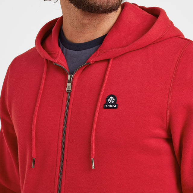 Alden Mens Hoody - Chilli Red image 2