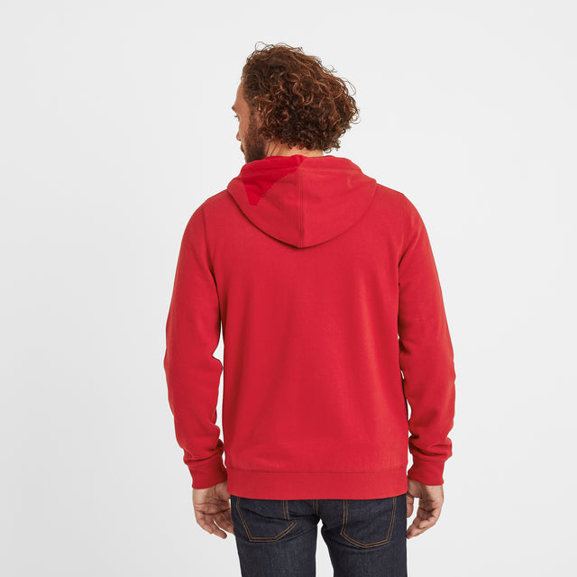 Alden Mens Hoody - Chilli Red image 3